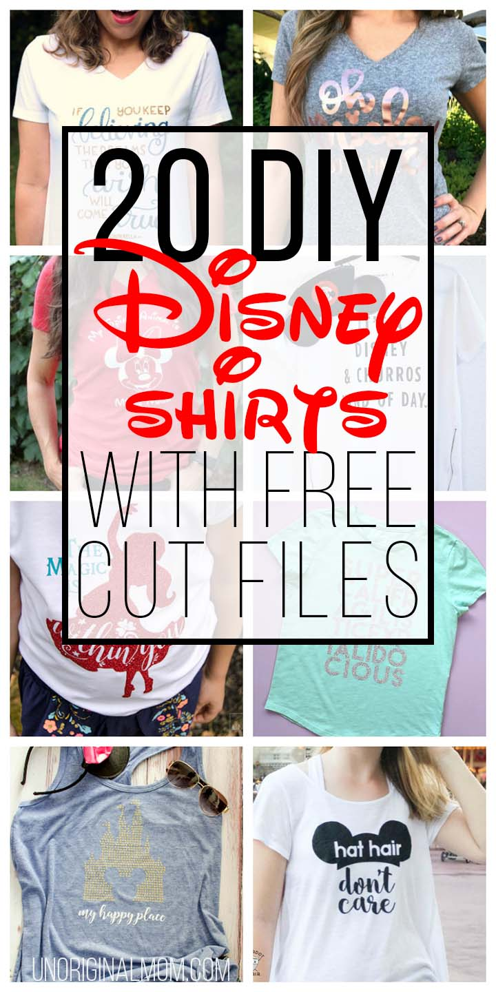 20 Diy Disney Shirts With Free Cut Files Unoriginal Mom