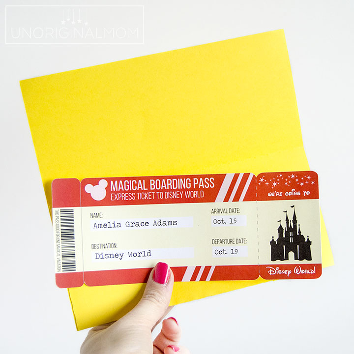 photo relating to Disney Printable Envelopes named Totally free Printable Disney Boarding P Tickets + Lower Report