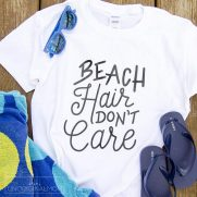 Beach Hair Don't Care Cut File + Tee