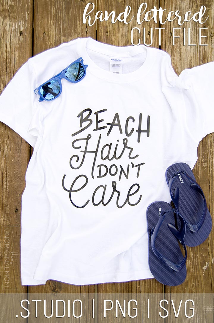 Beach Hair Don't Care - free cut file for your Silhouette or Cricut! #beach #beachtshirt #beachhairdontcare #beachcutfile #silhouette #cricut