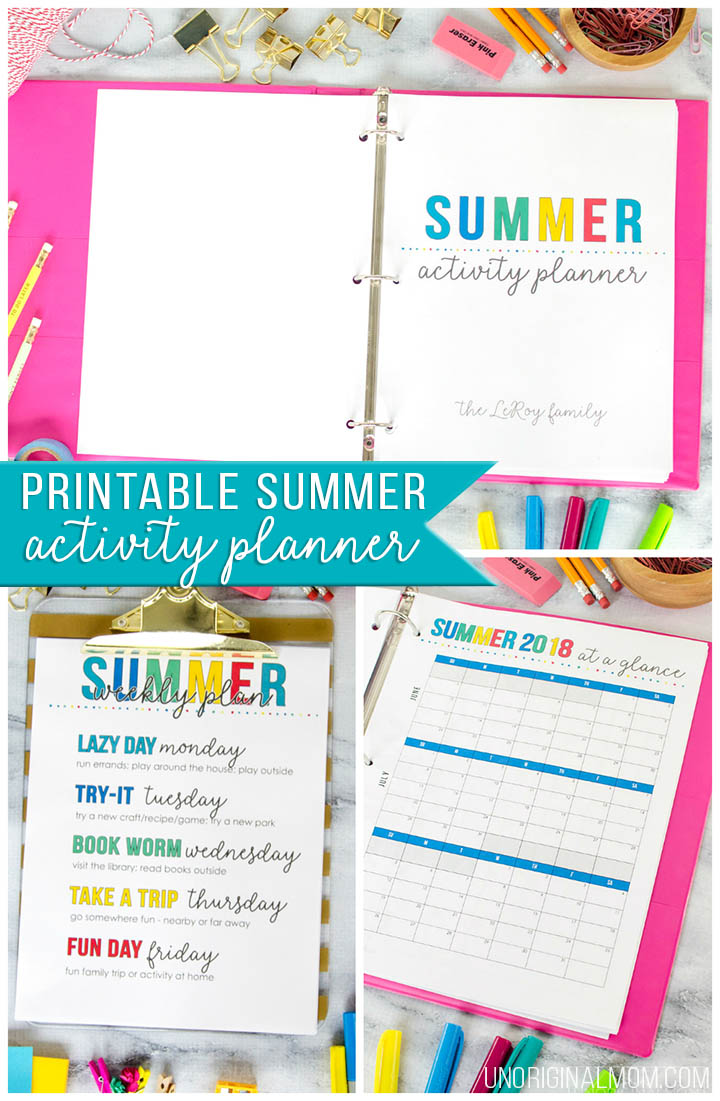 picture regarding Mom Planner Printable named Printable Summer months Planner + Cost-free Summer months Calendar - unOriginal Mother