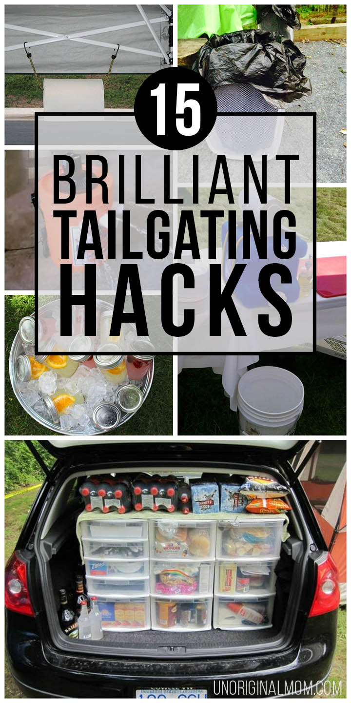 Brilliant tailgating hacks and ideas to make your tailgate the best tailgate ever! #tailgating