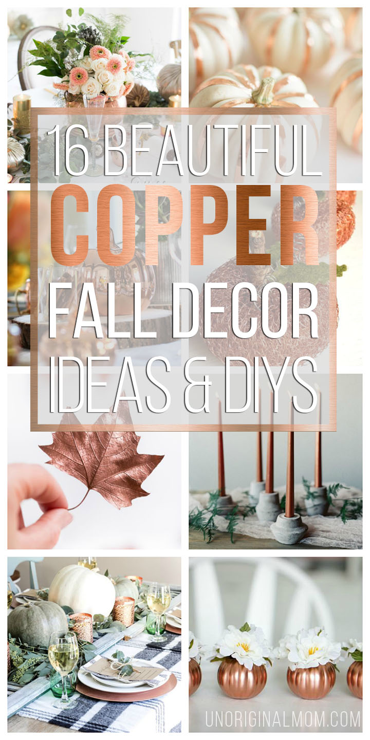Add some metallic texture to your fall decor with these beautiful and inspiring copper fall decor ideas. #rusticglam #copper #falldecor