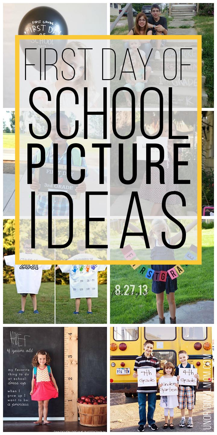 Cute first day of school picture ideas - lots of adorable and easy ideas for back to school pictures!