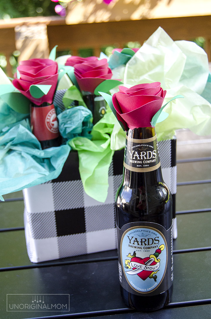 Beer Bouquet Tutorial Beer Gift Idea For Men Unoriginal Mom