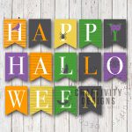 Free Printable Colorful Halloween Banner