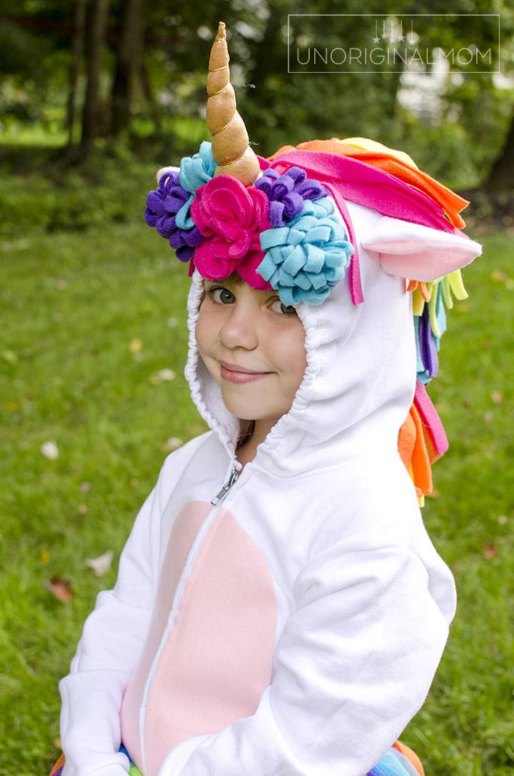 DIY Unicorn Hoodie Costume + Rainbow Tutu. A