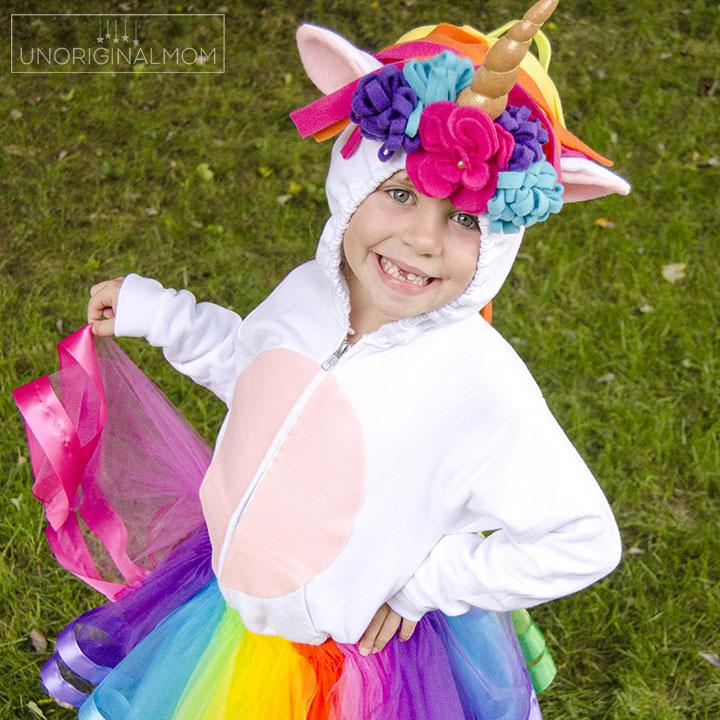 Diy Unicorn Hoodie Costume With Rainbow Tutu Tutorial