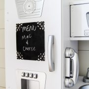 Chalkboard Menu Board for a Play Kitchen