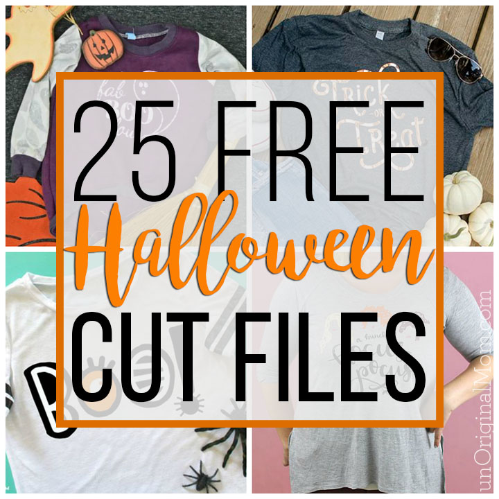 Look at all these fun free Halloween cut files! Use these free Halloween SVGs with your Silhouette or Cricut to craft up some Halloween shirts. #halloweenSVGs #halloween #cricut #silhouette