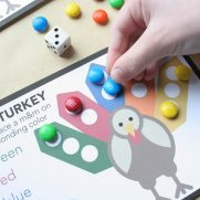 Roll a Turkey – Free Thanksgiving Game for Kids!