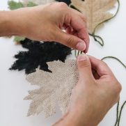 Easy DIY Burlap Leaf Garland