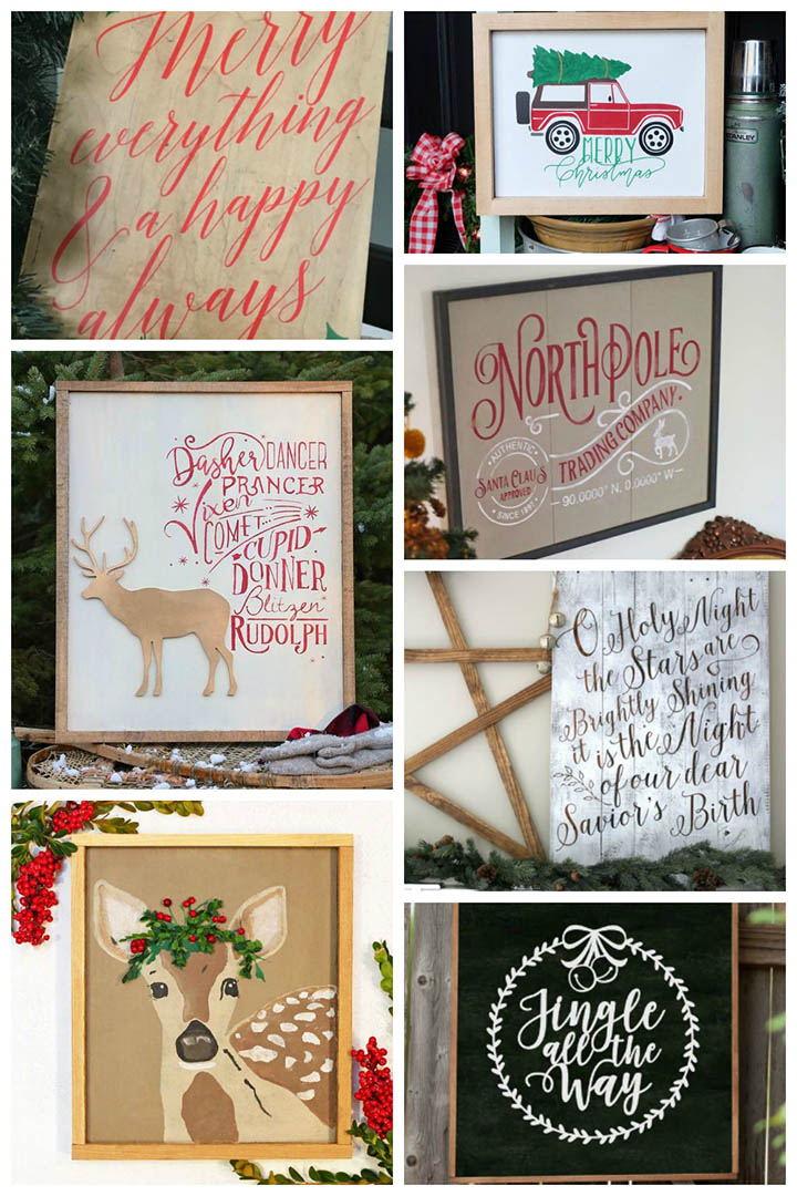 A terrific list of 50 free Christmas cut files for your Cricut or Silhouette! Free SVGs and .studio files. #freecutfiles #freeSVGs #Silhouette #Cricut