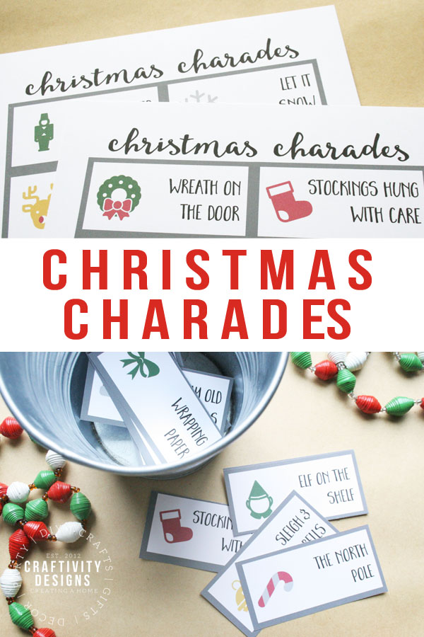 picture about Charades Printable referred to as Absolutely free Printable Xmas Charades - unOriginal Mother