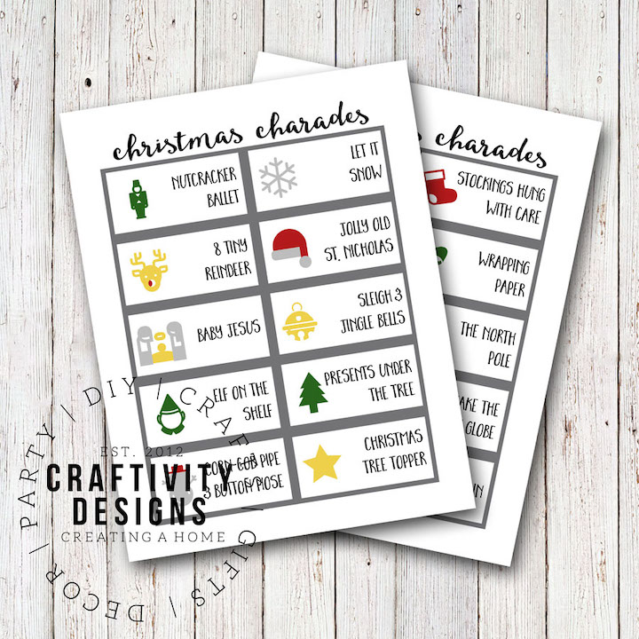 image about Charades Printable named No cost Printable Xmas Charades - unOriginal Mother