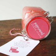 DIY Peppermint Sugar Scrub + Printable Labels