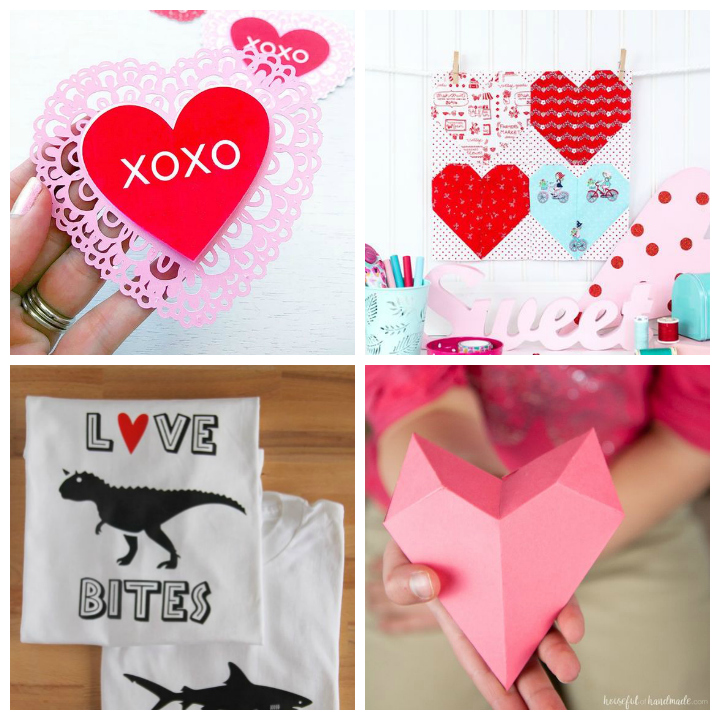 Get crafty with your Silhouette or Cricut and these adorable free cut files for Valentine's Day! #freecutfiles #svgs #silhouette #cricut