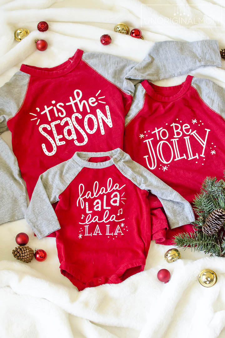 Diy Sibling Christmas Shirts Free Svg Unoriginal Mom