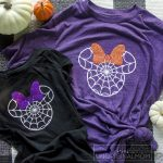 DIY Disney Halloween Shirt – Free Minnie Spider Web Cut File