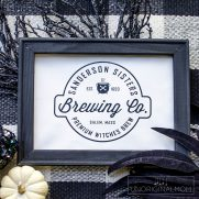Hocus Pocus Halloween Sign + Sanderson Sisters Brewery Cut File