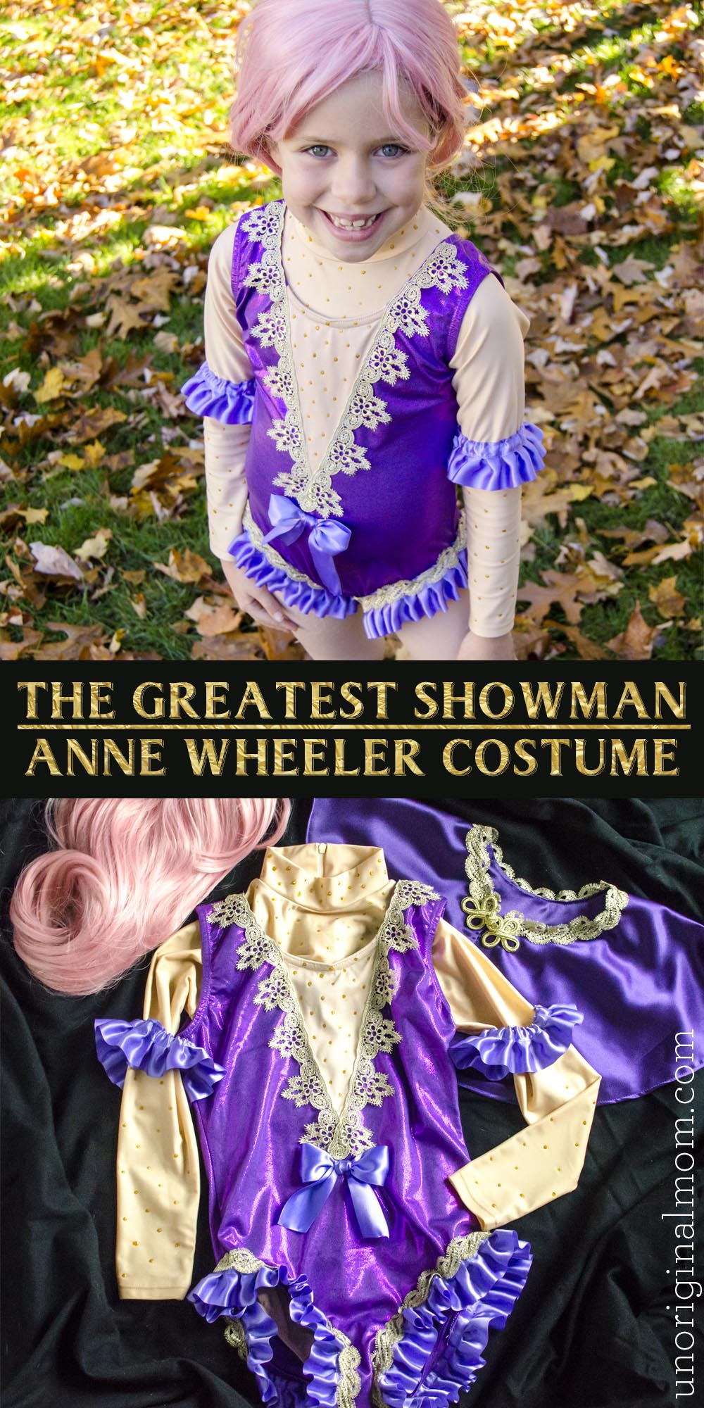 DIY Greatest Showman costumes: Get all the details on this DIY Anne Wheeler costume, made out of a store bought leotard.