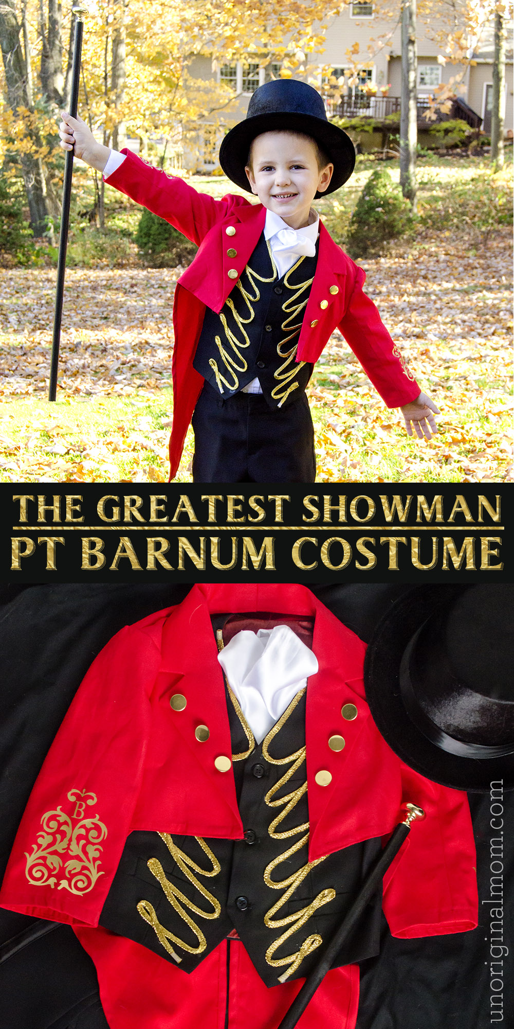 DIY Greatest Showman Costume: handmade PT Barnum costume with a pattern for the tailcoat!