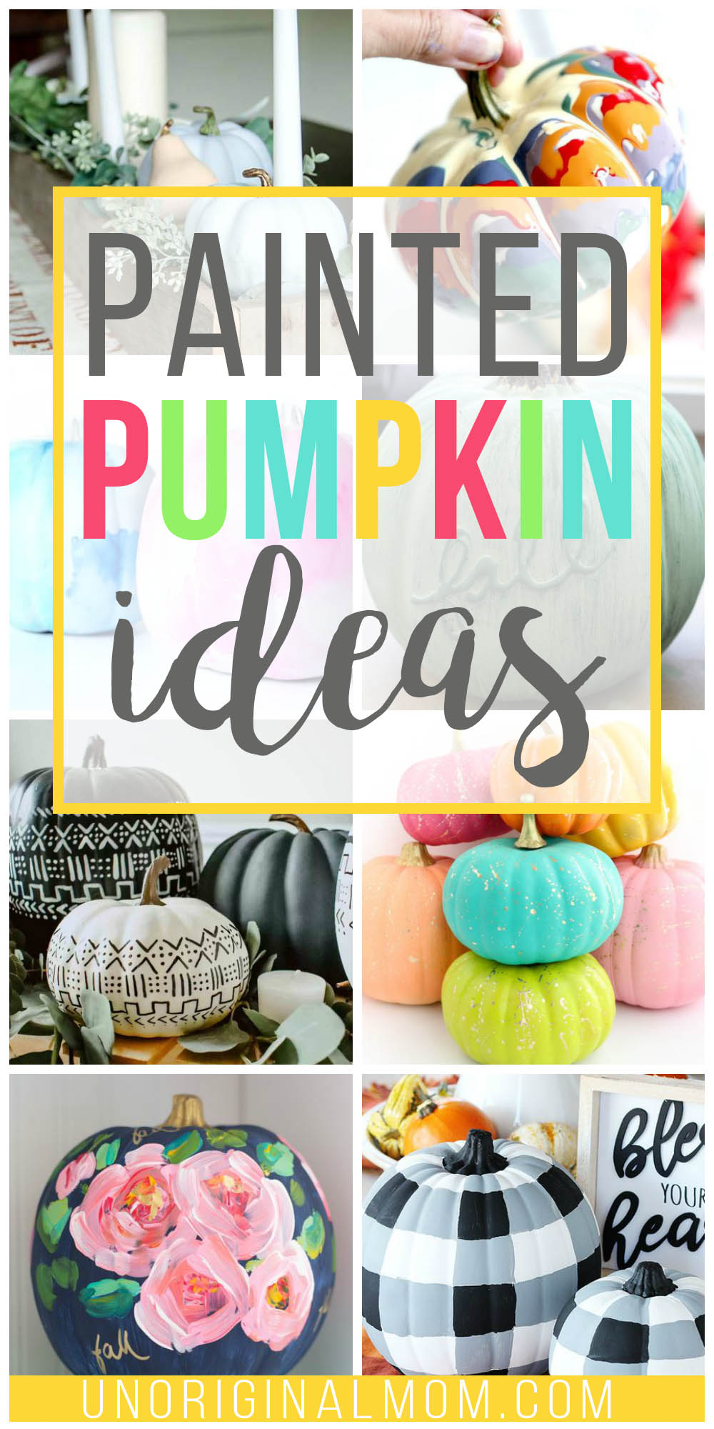 DIY painted pumpkin ideas to use in your fall decor - from buffalo check pumpkins to watercolor pumpkins and so many more great ideas!