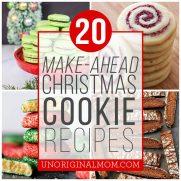 20 Make Ahead Christmas Cookies