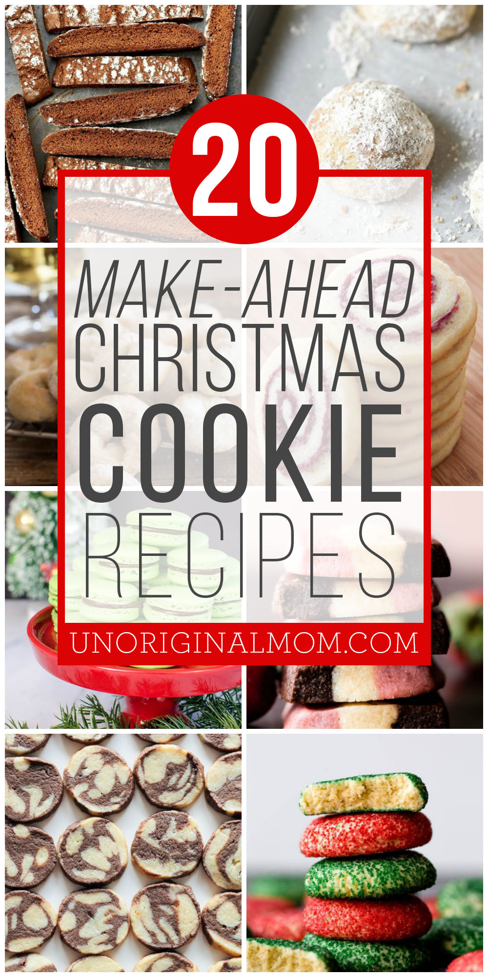 Get a head start on holiday making with this list of 20 make ahead christmas cookie ideas. Freezer friendly Christmas cookies!