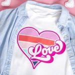 Retro Typography Love SVG