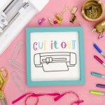 "Free Crafter Life SVGs + ""Cut it Out"" Hand Drawn CAMEO Icon"