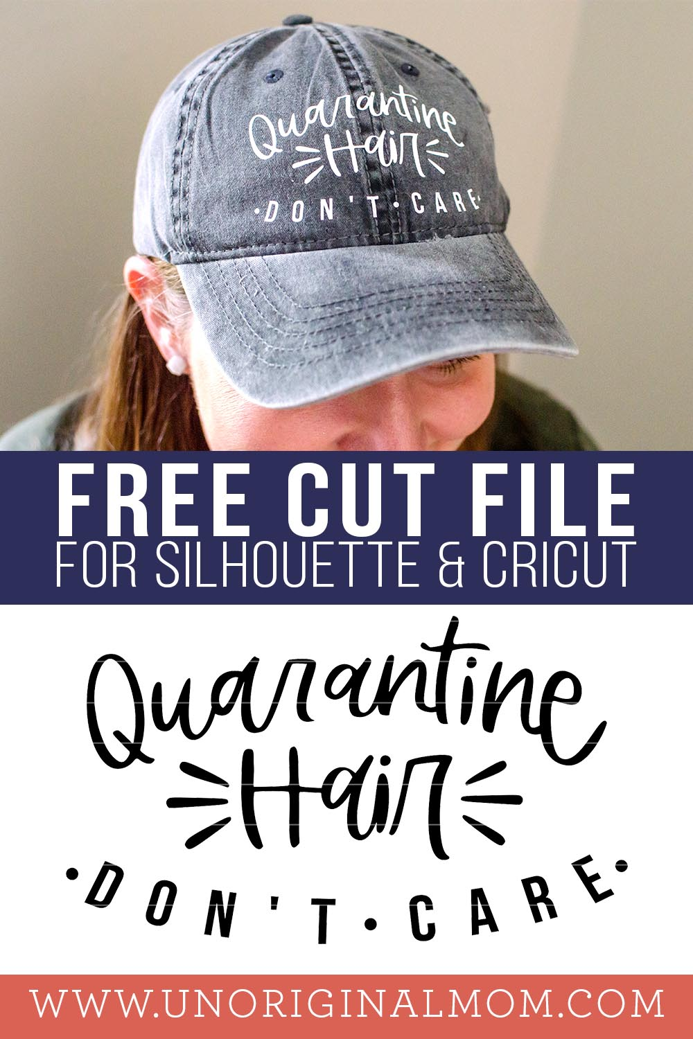 Quarantine Hair Don't Care SVG - free quarantine SVGs for Silhouette and Cricut!