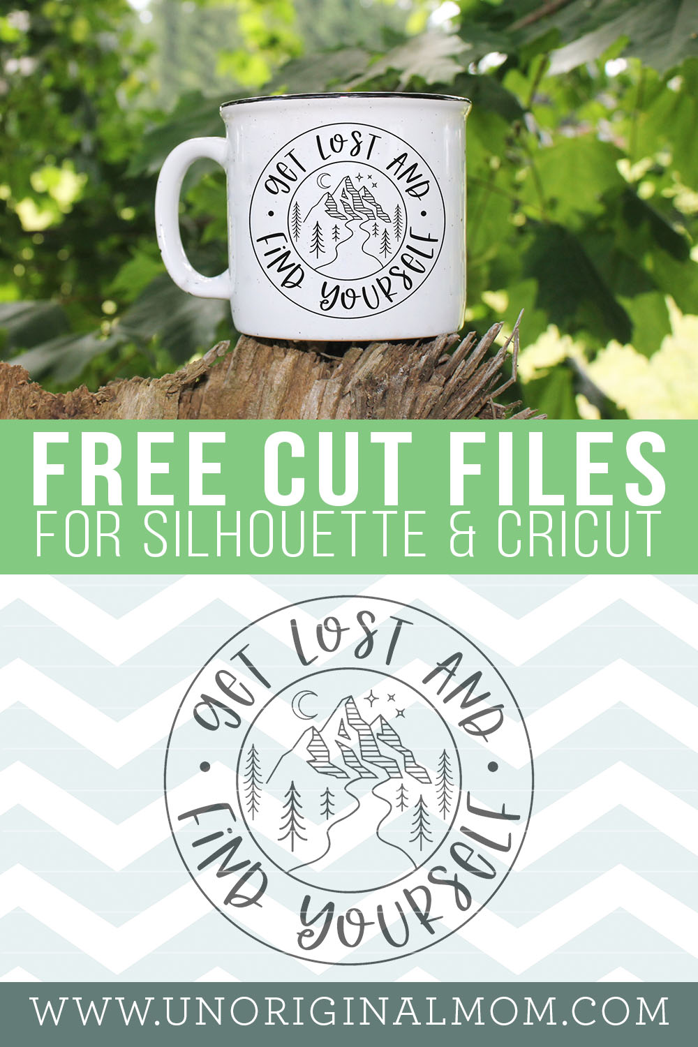 Get Lost and Find Yourself free SVG for Silhouette and Cricut, plus a collection of 13 more free camping SVGs!
