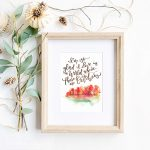 Free Printable Hand Lettered October Art