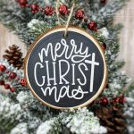 Free Ornament SVGs – Merry Christ-mas Cut File
