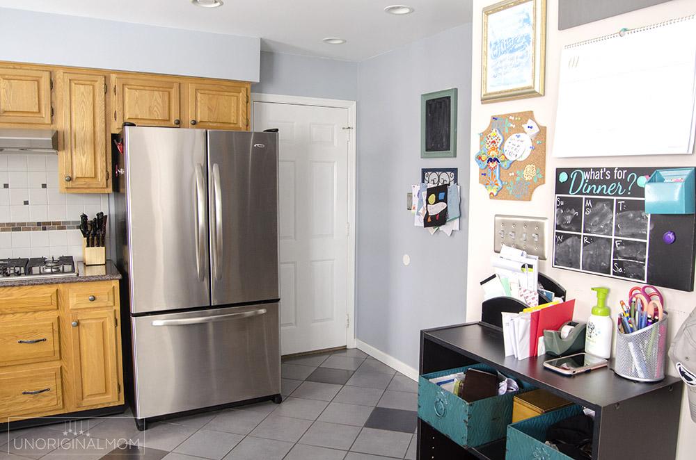 Garage entry into kitchen - before photos