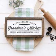 Free Kitchen Sign SVGs – Grandma's Kitchen Sign