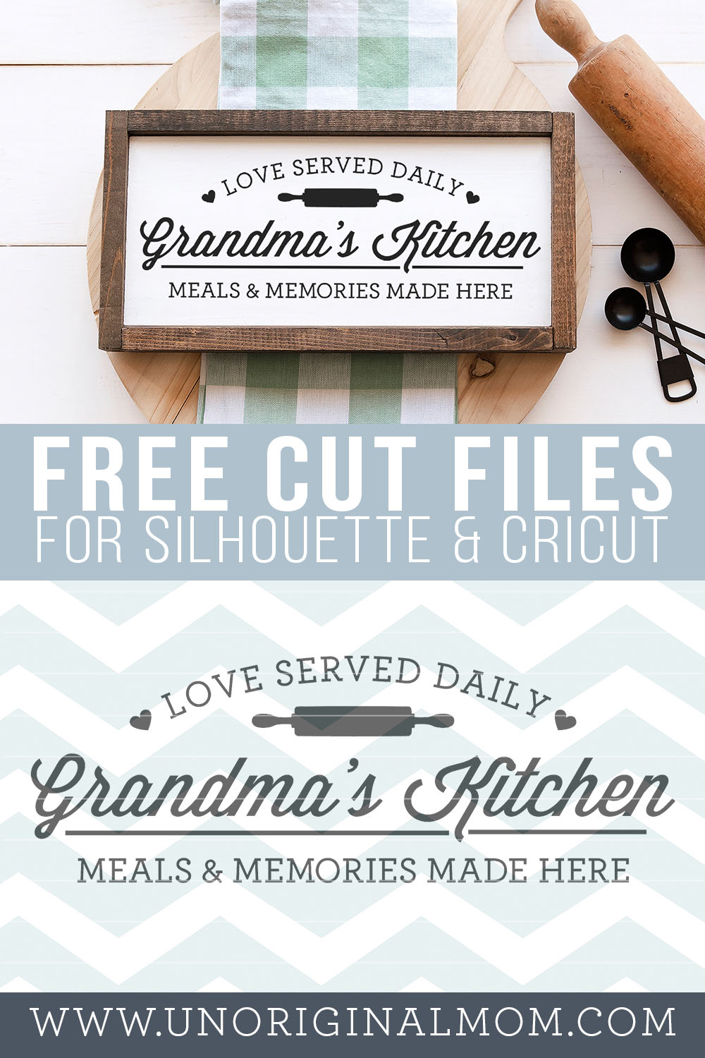 Grandma's Kitchen - DIY farmhouse style kitchen sign. Grab this free kitchen svg to make your own sign! #silhouette #cricut