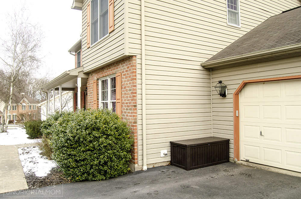 90s colonial exterior renovation - garage addition